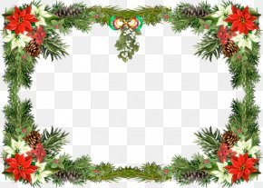 Christmas Frame Picture - Christmas Card Picture Frame Clip Art PNG