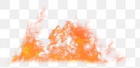Cartoon Orange Red Fire - Rendering Fire PNG