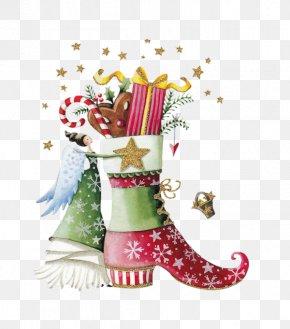 Creative Christmas Boots - Christmas Gift Christmas Gift PNG