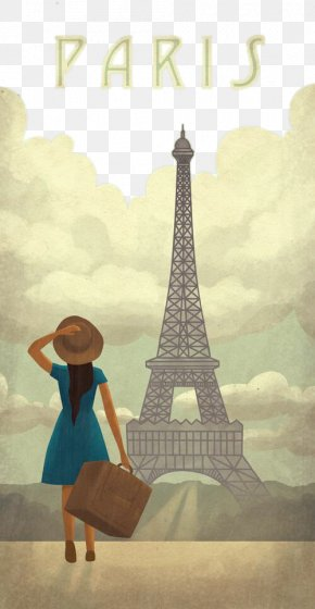 Woman Of Paris And The Eiffel Tower - Eiffel Tower French Riviera Tours Verdon Gorge Unmitigated Gaul: A Lifetime In France PNG