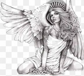 Beautiful Angel - Canvas Print Giclxe9e Angel Art PNG