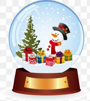 Blue Ball Snowman Christmas Gift - Santa Claus Christmas Gift Snowman PNG