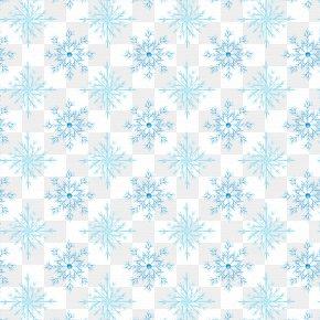 Winter Snowflake Background Pattern - Snowflake Watercolor Painting Pattern PNG