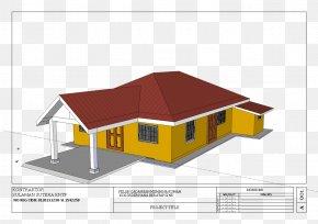 Rumah Kampung - Roof House Bungalow Home PNG