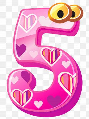 Cute Number Five Clipart Image - Number Clip Art PNG