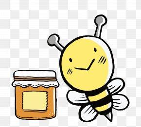 Cartoon Honey Bees - Honey Bee Honey Bee Euclidean Vector Clip Art PNG