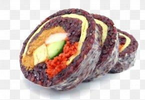 Sushi - Sushi Glutinous Rice Black Rice Gimbap PNG