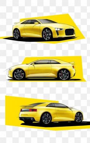 Yellow Sports Car - Sports Car Automotive Design Sketch PNG