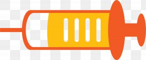 Yellow Syringe - Syringe Injection Hypodermic Needle Clip Art PNG
