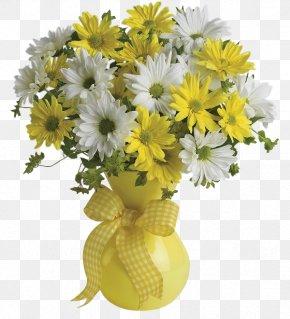 Flower Vase - Flower Bouquet Teleflora Cut Flowers Yellow PNG