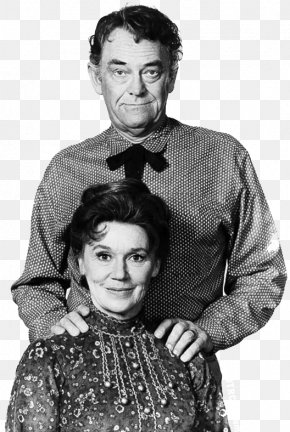 Actor - Jeanette Nolan John McIntire The Virginian Wagon Train Black And White PNG