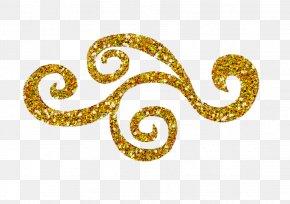 Swirls Transparent Image - Glitter Gold Clip Art PNG