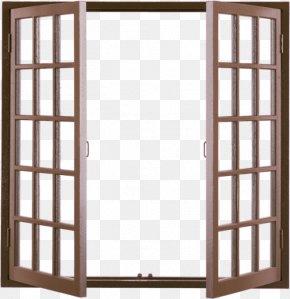 Wood Windows - Window Building Wood Door PNG