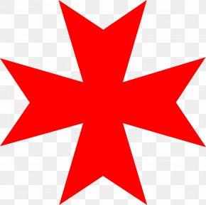 Red Star Decoration - Maltese Dog Maltese Cross Clip Art PNG