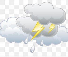 Lightning Lightning Rain - Lightning Thunderstorm Rain PNG