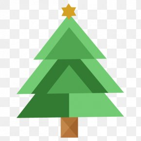 Christmas Tree - Fir Pine Family Christmas Decoration Triangle Font PNG