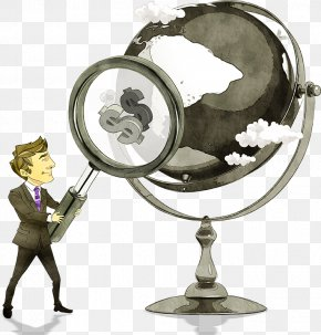 Magnifying Glass And A Business Man - Cartoon Magnifying Glass Download PNG