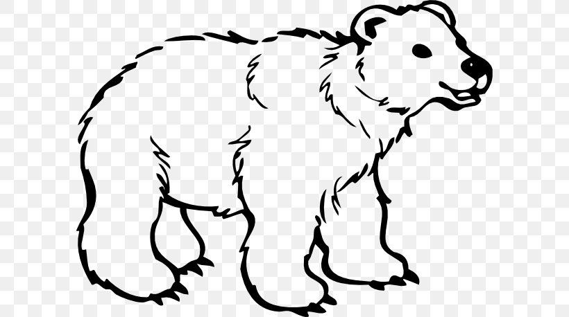 Polar Bear American Black Bear Drawing Clip Art, PNG, 600x458px, Watercolor, Cartoon, Flower, Frame, Heart Download Free