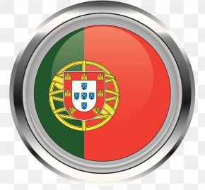 Portuguese Flag Metal Circle Icon - Flag Of Portugal T-shirt Flags Of The World PNG