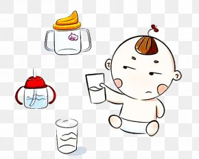 Little Baby In The Water Picture Material - Drinking Water Clip Art PNG