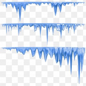 Blue Hand Painted Icicles - Icicle Stock Photography Can Stock Photo Clip Art PNG