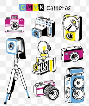 Cartoon Camera - Photographic Film Camera Cartoon PNG