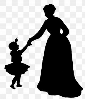 Sillhouette - Silhouette Mother Child Clip Art PNG