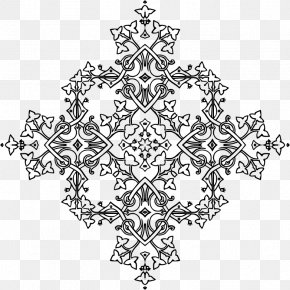 Geometric Decoration - Black And White Visual Arts PNG