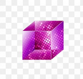 Vector Translucent Purple Crystal Cube Cube - Crystal Cubes Purple Hexagonal Prism PNG