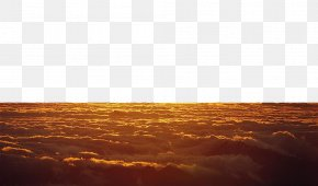 Twilight Sea Of clouds - Heat Rectangle Computer Wallpaper PNG