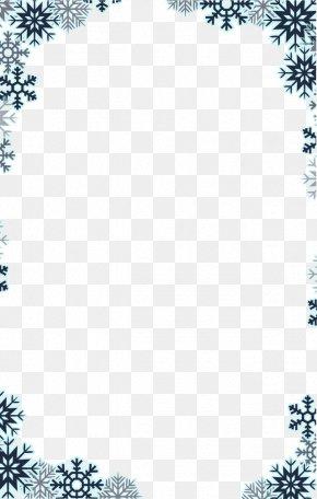 Snowflake Border - Snowflake PNG