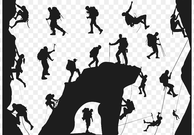 Climbing Silhouette Mountaineering Extreme Sport, PNG, 800x569px, Climbing, Black And White, Brand, Climbing Wall, Communication Download Free