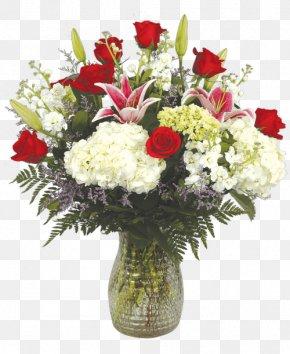 Vase - Garden Roses Floral Design Cut Flowers Flower Bouquet Vase PNG