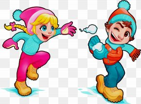 Playing In The Snow Fictional Character - Snow Background PNG