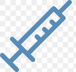 Blue Syringe - Syringe Hypodermic Needle Injection Clip Art PNG
