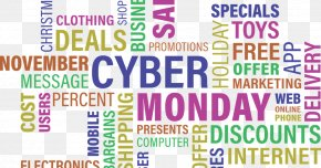 Black Friday - Cyber Monday Discounts And Allowances Black Friday Online Shopping Sales PNG