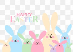 Vector Easter Bunny - Easter Bunny Easter Egg Rabbit PNG