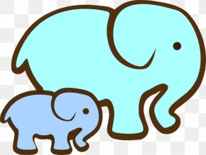 Green Elephant Cliparts - Elephant Mother Clip Art PNG