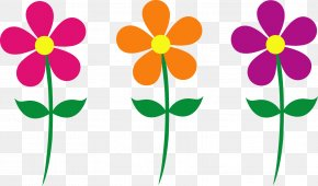 Happy Spring Cliparts - Flower Free Content Clip Art PNG