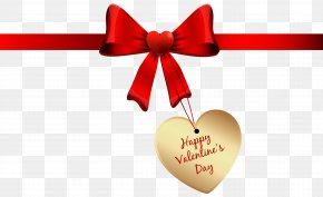 Happy Valentines Day Bow PNG Clipart Image - Valentine's Day Clip Art PNG