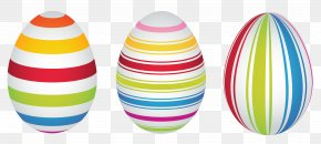 Easter Striped Eggs Clipart Picture - Easter Bunny Easter Egg Clip Art PNG