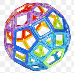 Magnetic Film Ball Magnetic Toys - Toy Block Neodymium Magnet Toys Construction Set PNG