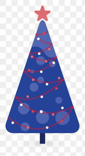 Blue Christmas Tree - Christmas Tree Christmas Decoration Clip Art PNG