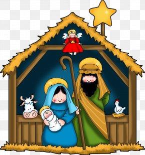 Birth - Christmas And Holiday Season Nativity Of Jesus Manger Clip Art PNG