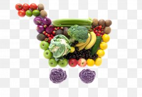Fruits And Vegetables Shopping Cart Image - Grocery Store Shopping Cart Supermarket Food PNG