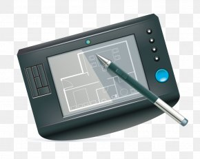 Hand-painted Tablet - Building Royalty-free Drawing Icon PNG