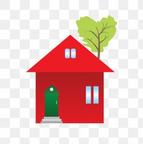 Red Jungle Lodge - House Renting Clip Art PNG