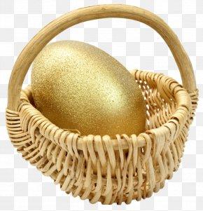 Bamboo Basket Eggs - Easter Bunny Egg In The Basket Easter Egg PNG