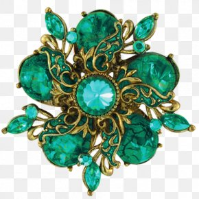 Emerald Jewelry Creative - Jewellery Emerald Brooch PNG