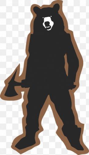 Bear Silhouette Clip - American Black Bear T-shirt Polar Bear Clip Art PNG
